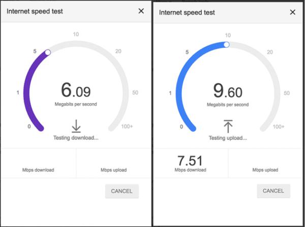 Google lance un test de vitesse d'internet 1