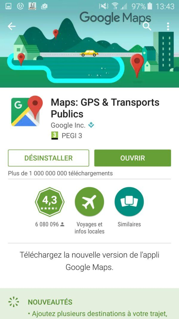 Maps Play Store