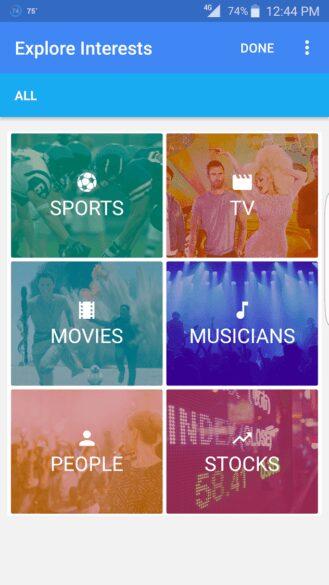 Google-Nows-Explore-Interests-card