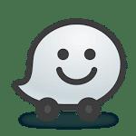 logo  Waze - مواقع، وخرائط، ومرور