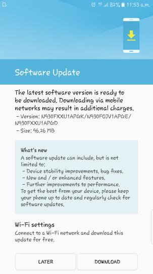Samsung-Galaxy-Note-7-première mise à jour