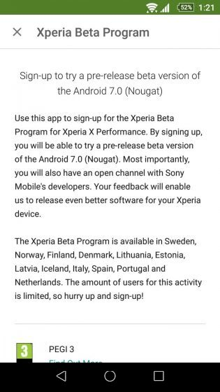 Sony-Xperia-X-Performance-Android-7.0-Nougat-beta