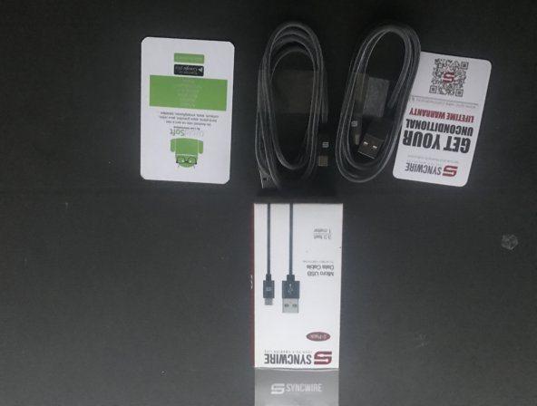 Test du nouveau câble MicroUSB en nylon tressé de Syncwire