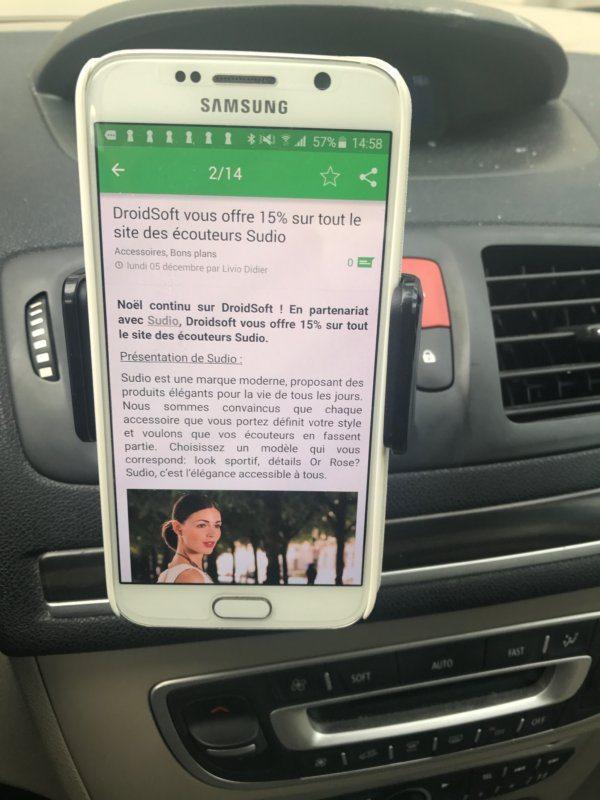 , Test du nouveau support voiture amélioré d'Avantek