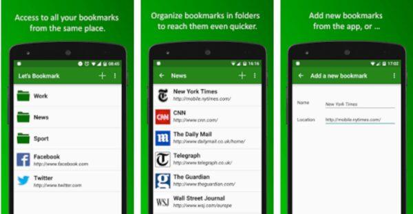 , Let's Bookmark : la nouvelle application pour gérer et partager vos signets