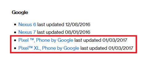 , Google va sortir le patch de sécurité de janvier la semaine prochaine