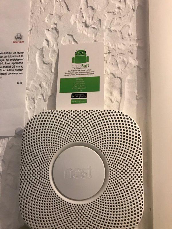 test du d tecteur de fum e intelligent nest protect. Black Bedroom Furniture Sets. Home Design Ideas