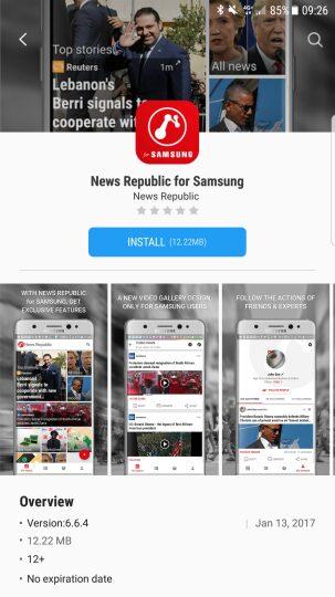 , News Republic : la nouvelle version «Made For Samsung» est disponible