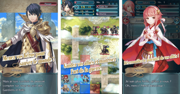 , Fire Emblem Heroes de Nintendo dispo sur Android