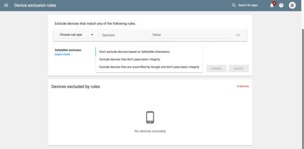 , Les développeurs Android peuvent désormais imposer des restrictions à l'installation de leur application à partir du Play Store