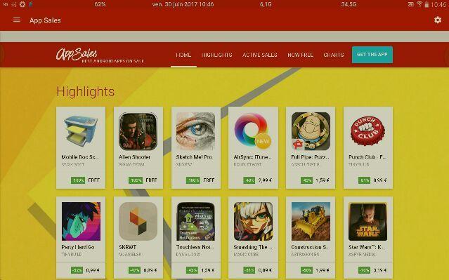 , App Sales : suivre en permanence les bonnes affaires du store…