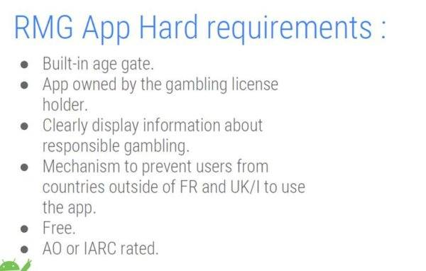android app gambling paris