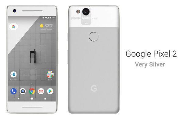 google pixel 2 argent