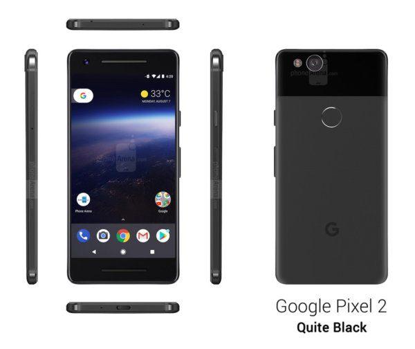 google pixel 2 noir fuite