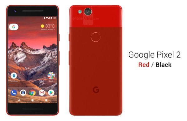 google pixel 2 rouge
