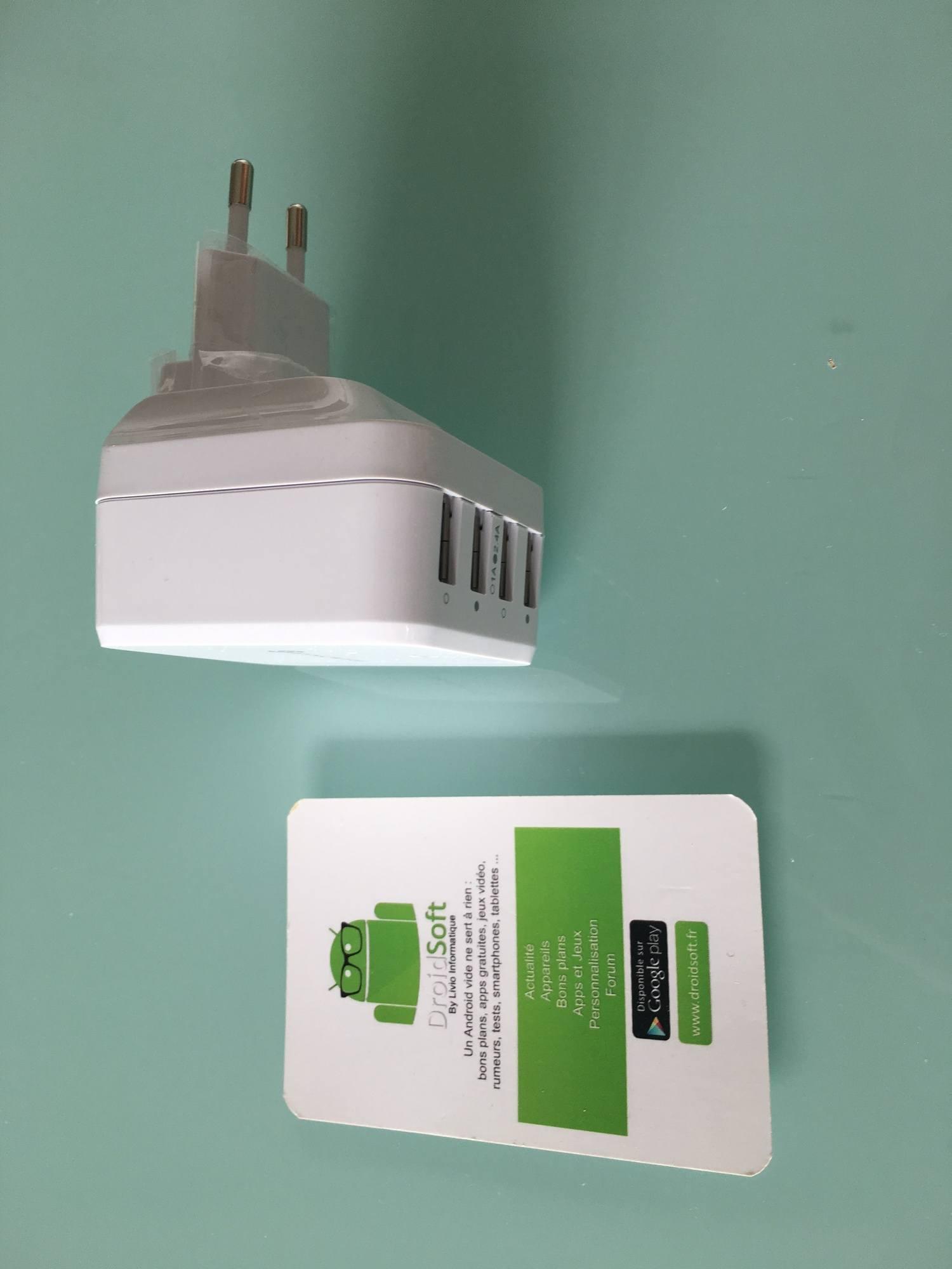 , Test : Chargeur USB Syncwire 4 ports avec adaptateur prise universel EU/UK/US