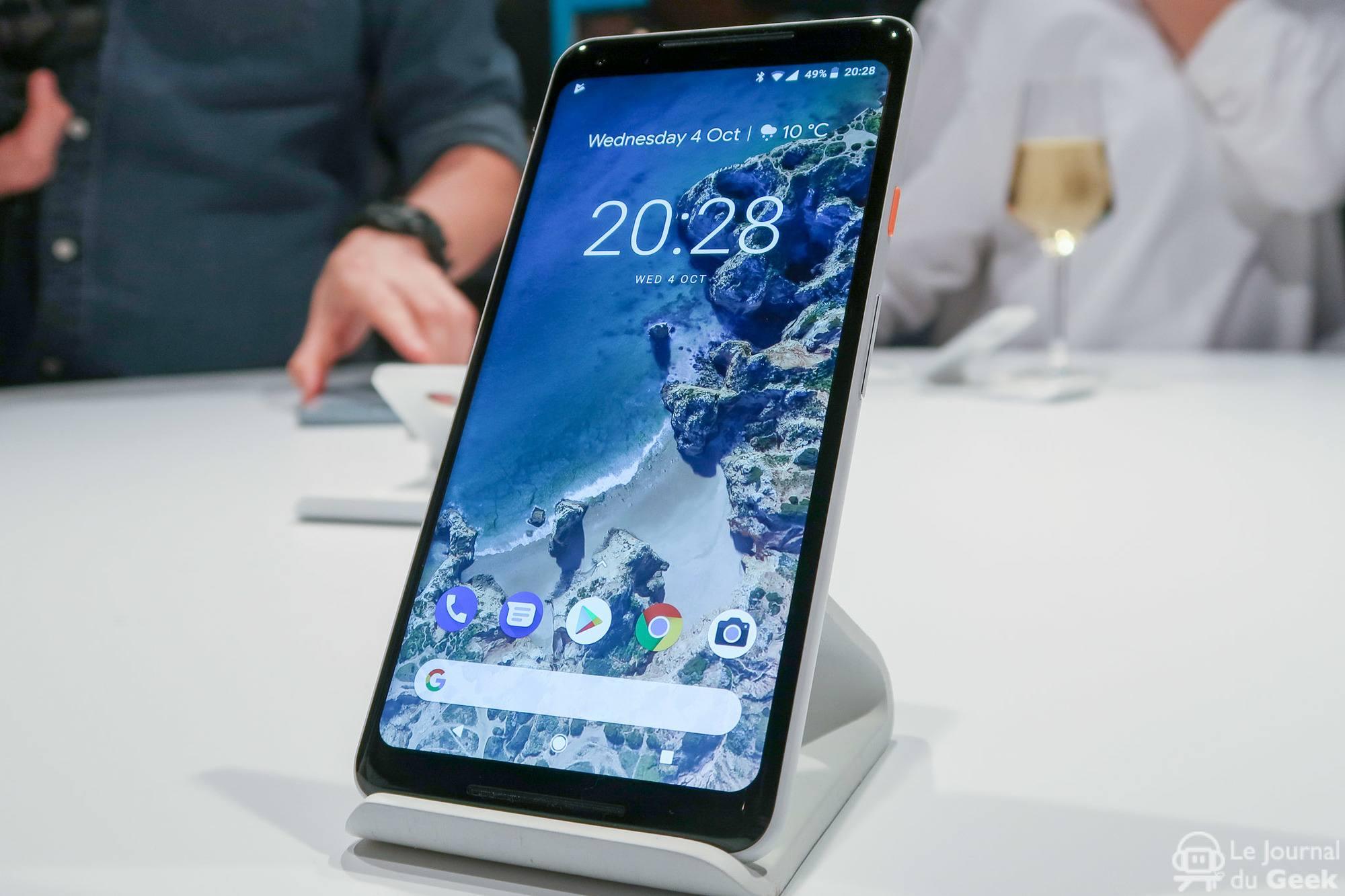 , Le nouveau design d'écran d'accueil sur Pixel 2 et Pixel 2 XL