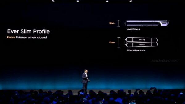 Huawei Mate X, Huawei se déplie aussi avec le Mate X
