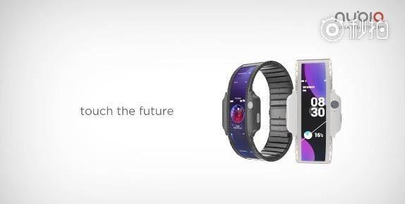 Nubia Alpha : une montre connectée avec écran flexible.