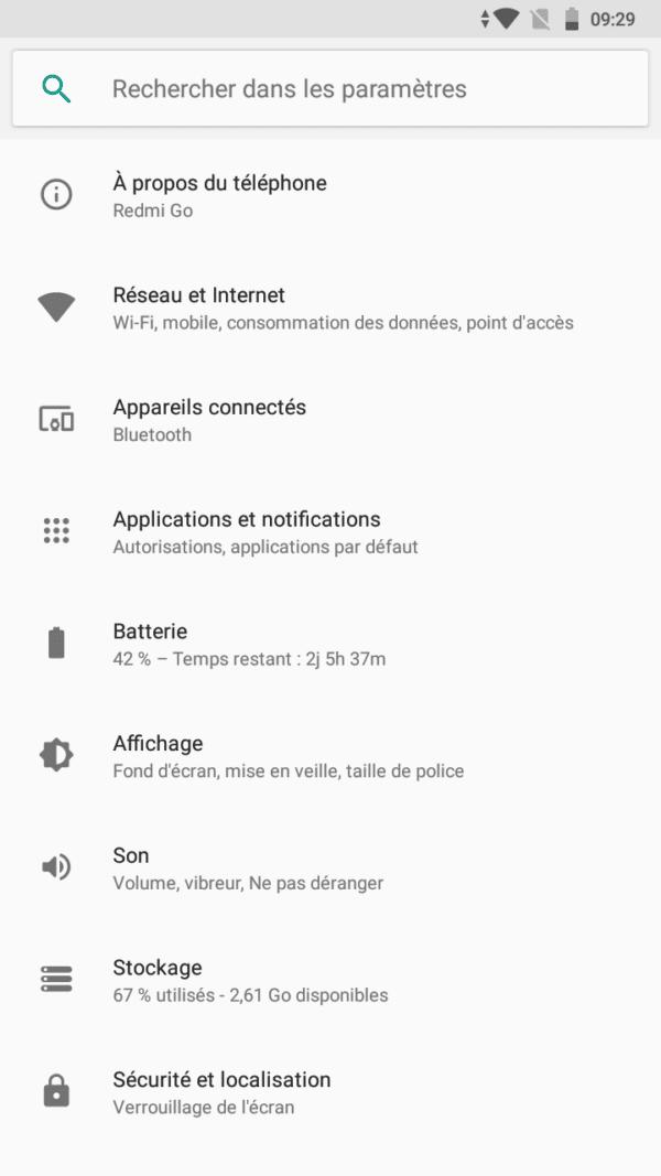 Xiaomi Redmi Go, Xiaomi Redmi Go : test complet