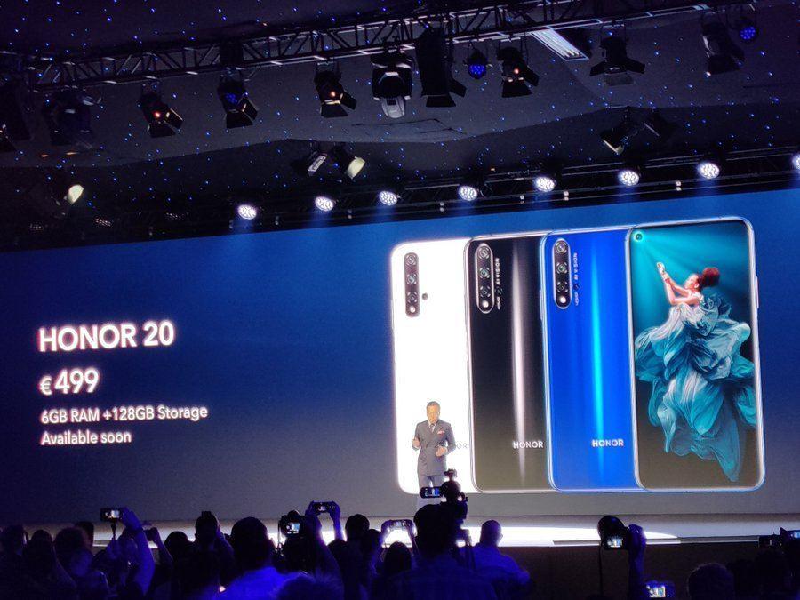 Honor 20 Pro, Honor annonce officiellement ses nouveaux Smartphones ! Honor 20 et 20 Pro