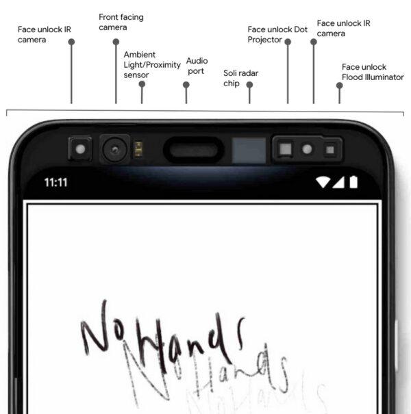 Google Pixel 4, Google Pixel 4 : Motion Sense et Face Unlock dévoilés