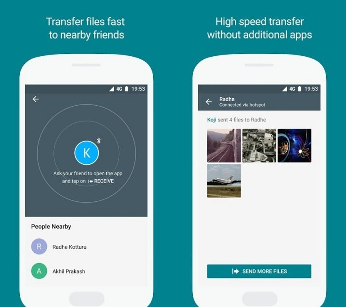 Files Go, Google Files, Air Drop Android, Partage fichiers