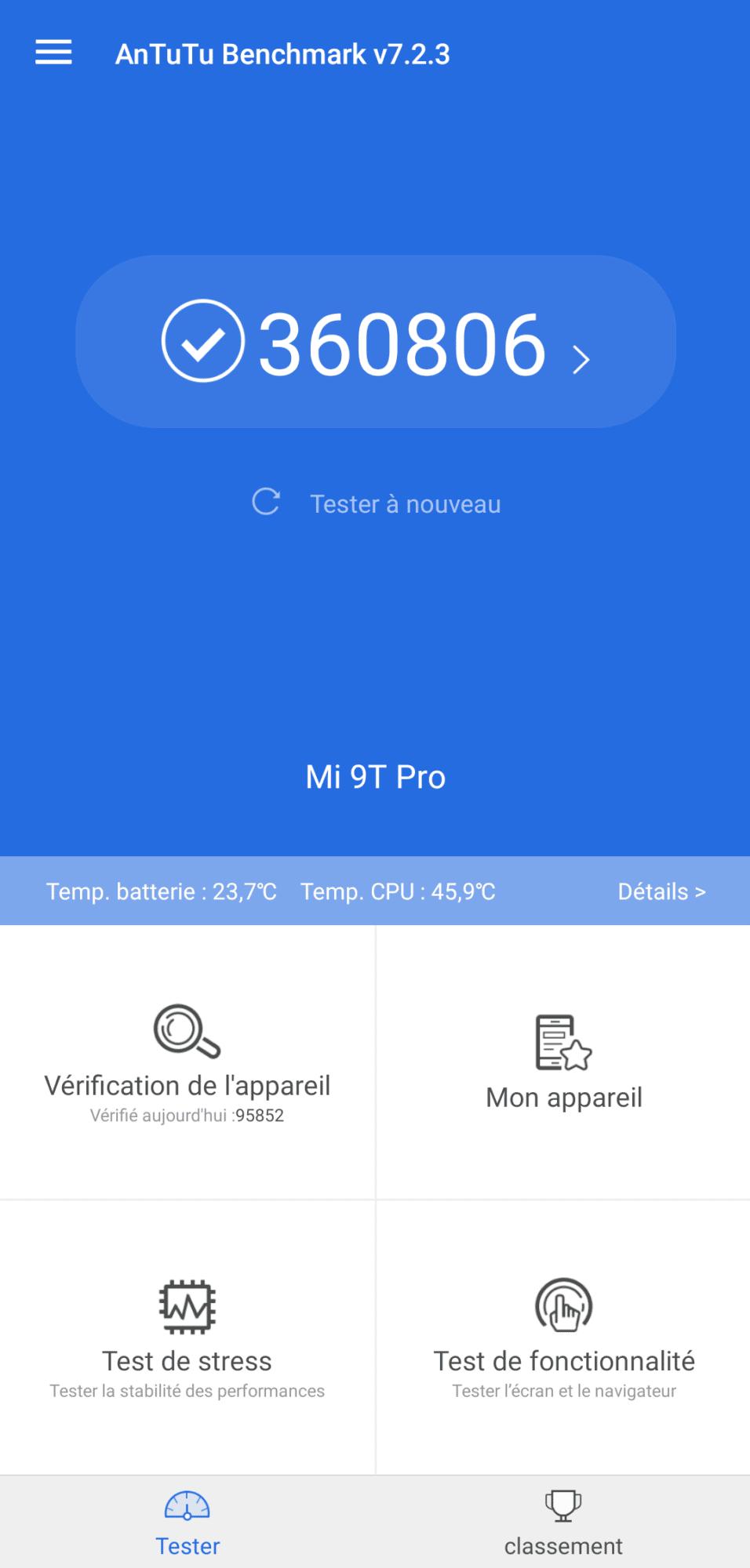 MI 9T Pro écran miui pop-up borderless boîte Snadpragon 855 48 MP Sony Antutu score haut de gamme graphique meilleur