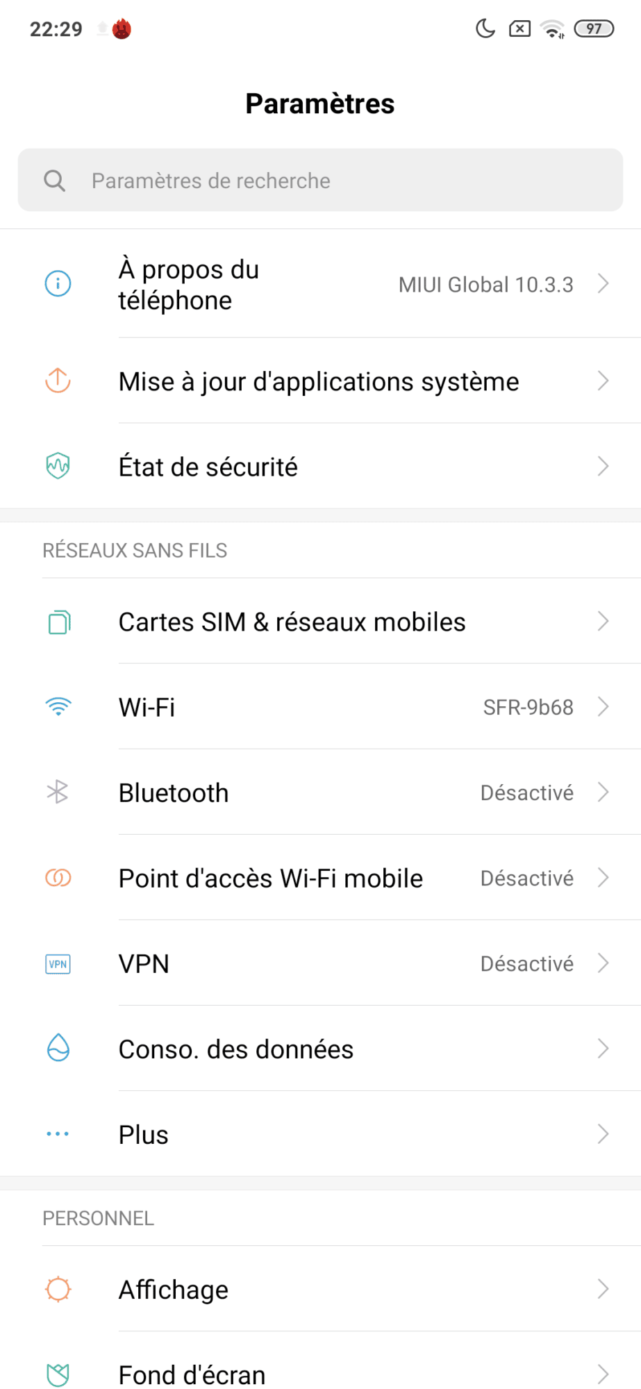 MI 9T Pro écran miui pop-up borderless boîte Snadpragon 855 48 MP Sony settiings Android Pie 9