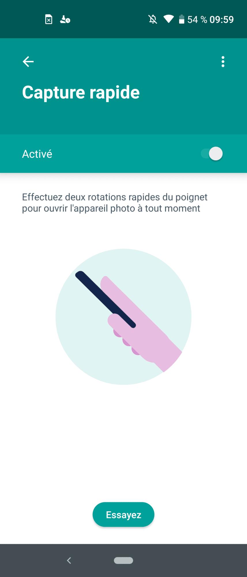 pas de bouton dédié à l'appareil photo? pas grave