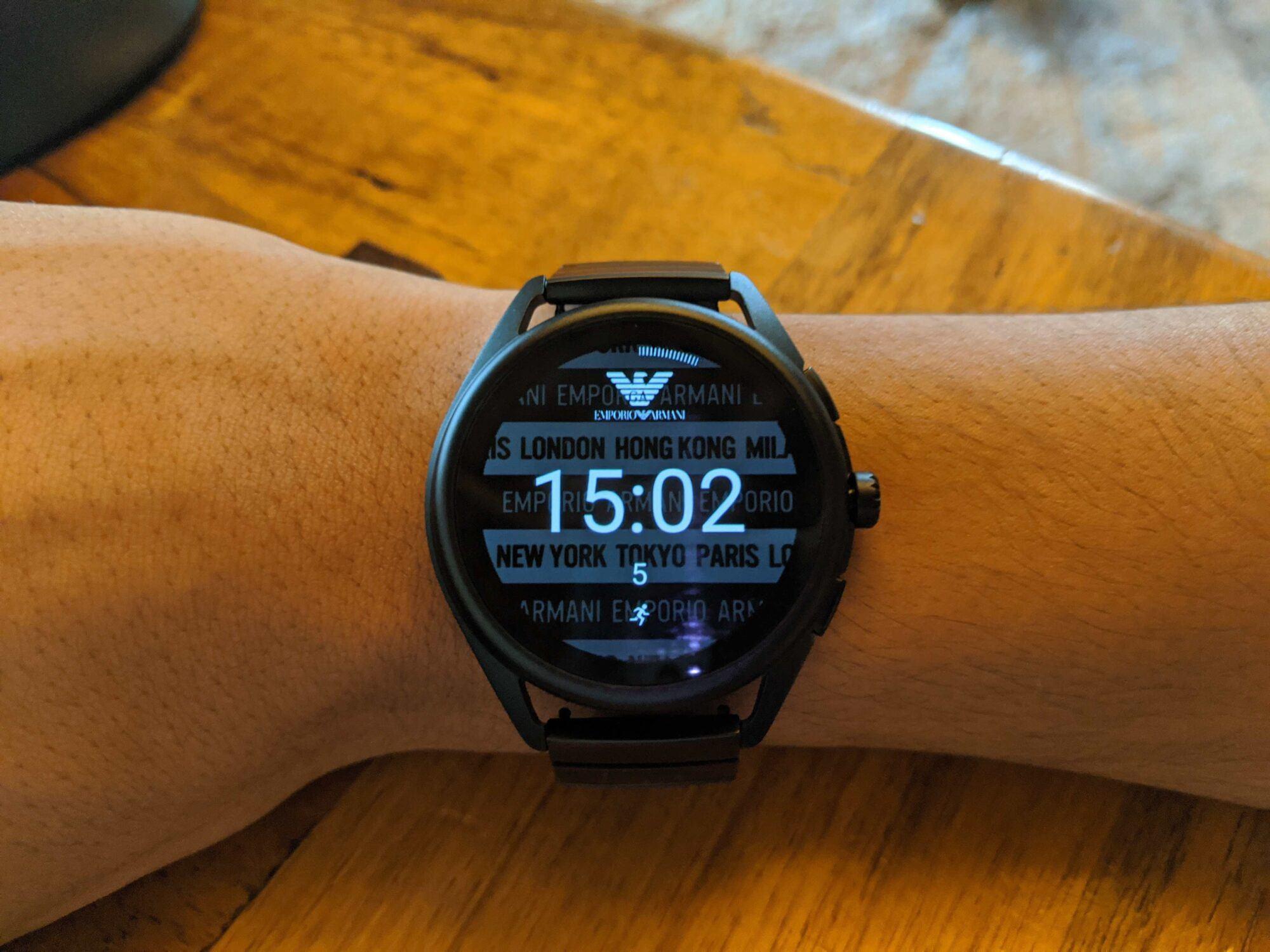 emporio armani smartwatch, watch, emporio