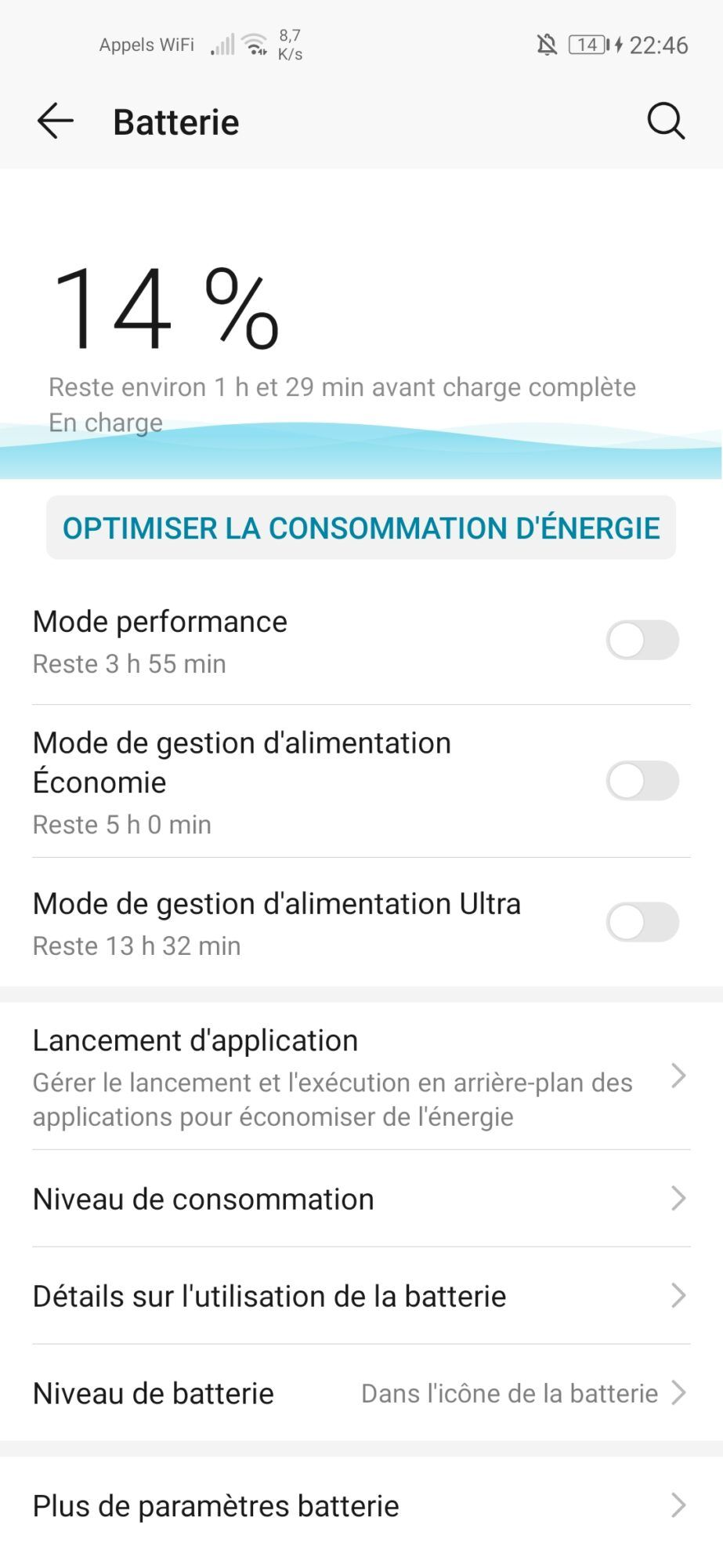 honor 20 pro capteurs 48 MP Android Magic UI batterie 4000 charge rapide jour mode