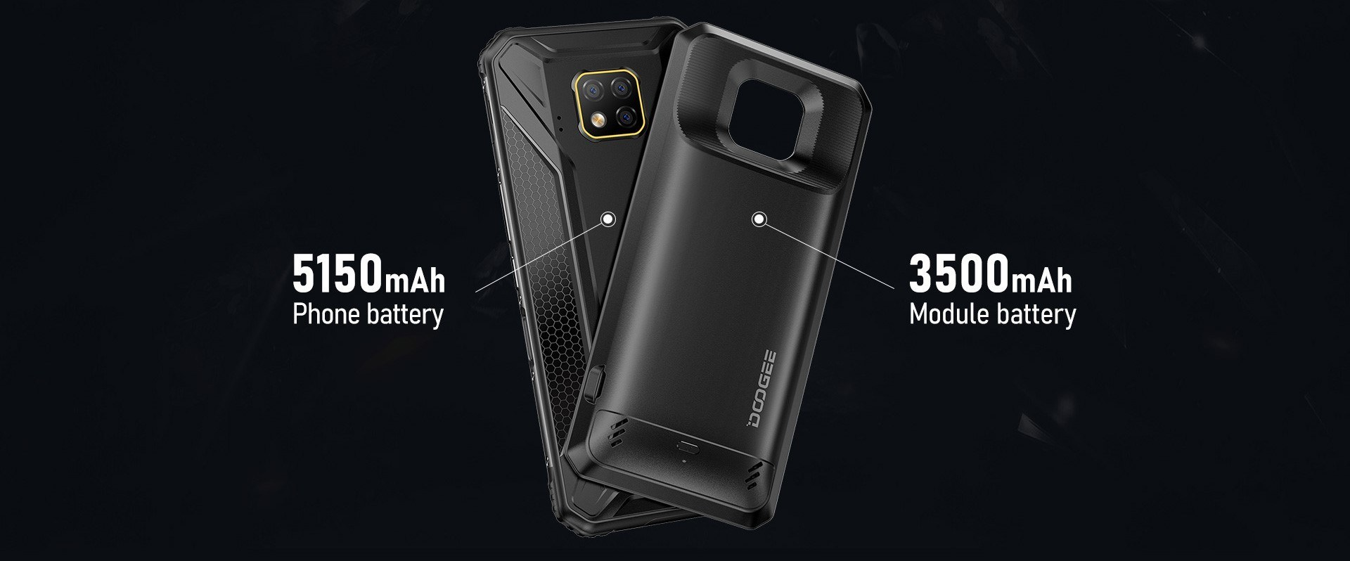 Smartphone incassable Doogee S95 Pro - Batterie