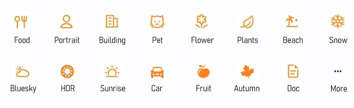 Différents modes intelligence artificielle - Doogee S95 Pro