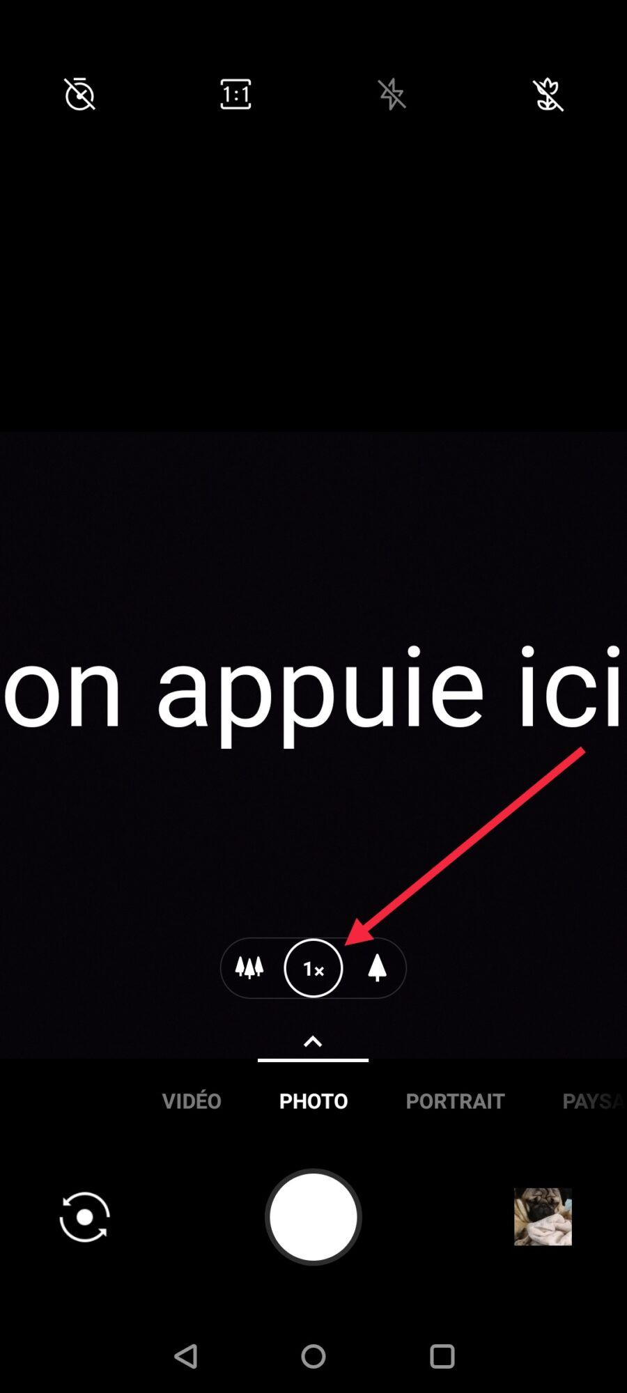 l'interface photo du Oneplus 7T est très intuitive