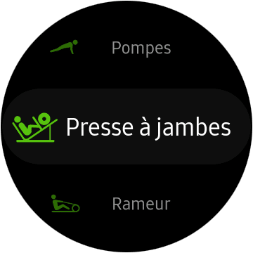 Exercices Samsung Galaxy Watch Active 2