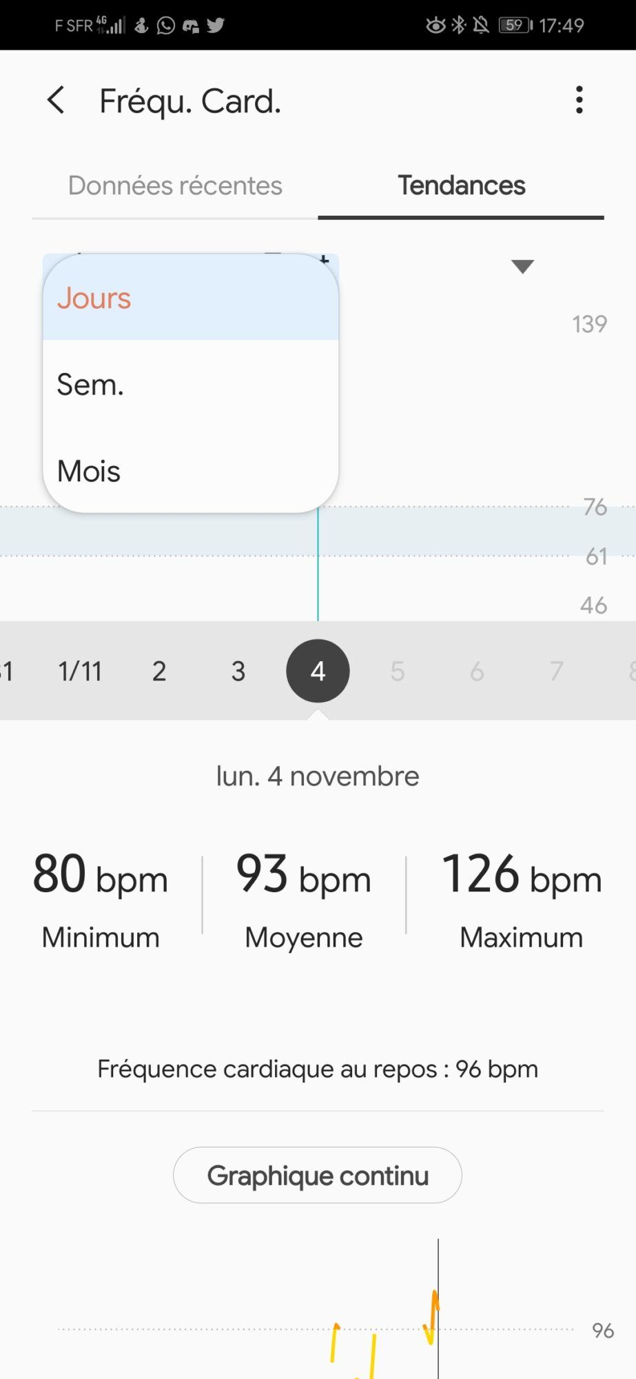 Application Samsung Health | précisions