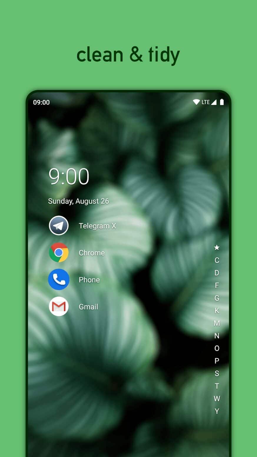 nova launcher android smartphone theme