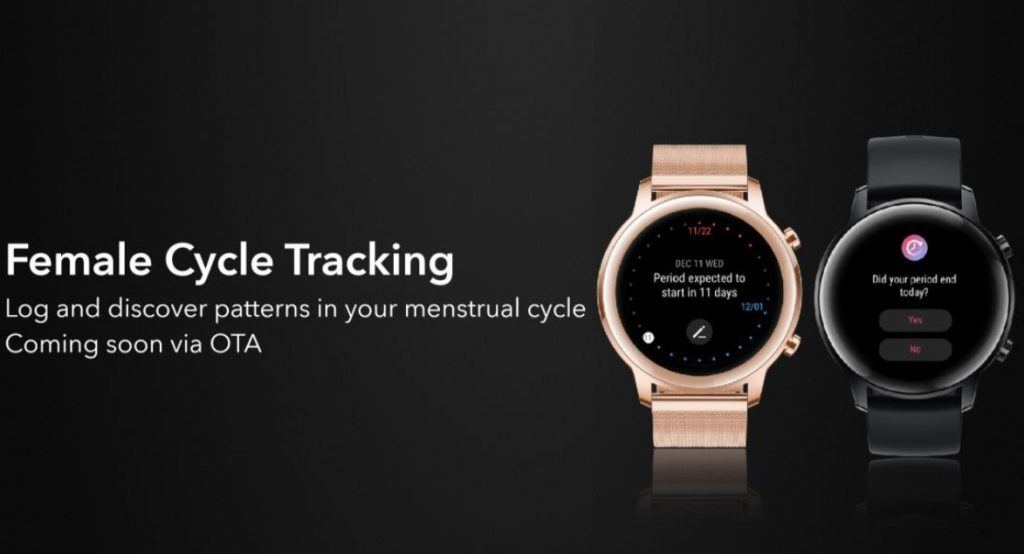 Honor Magic Watch 2 Cycle menstruel