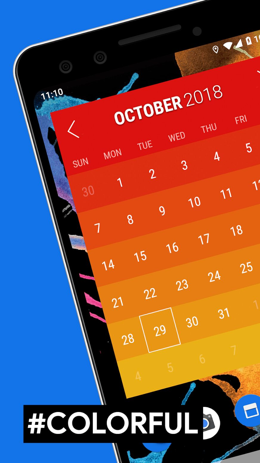 widget-month-calendrier-application-android