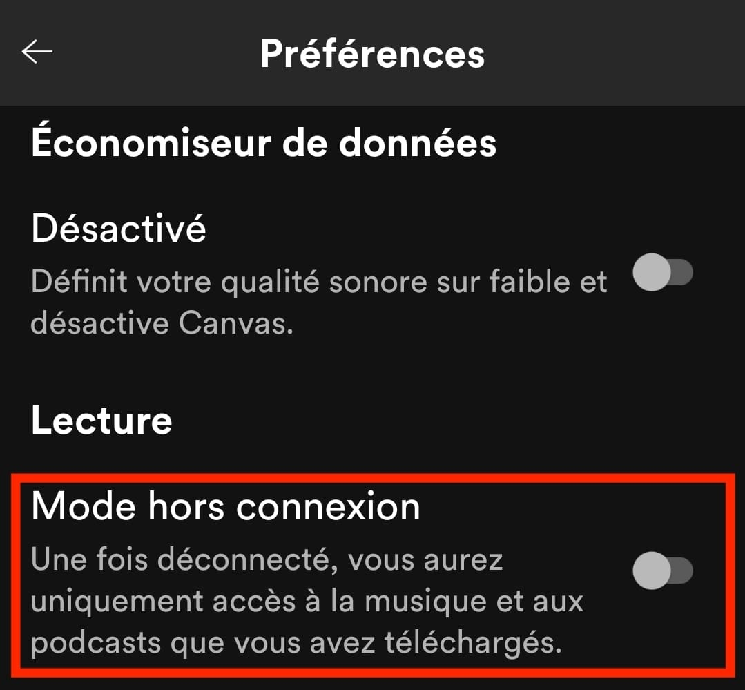 activer-mode-hors-connexion-spotify