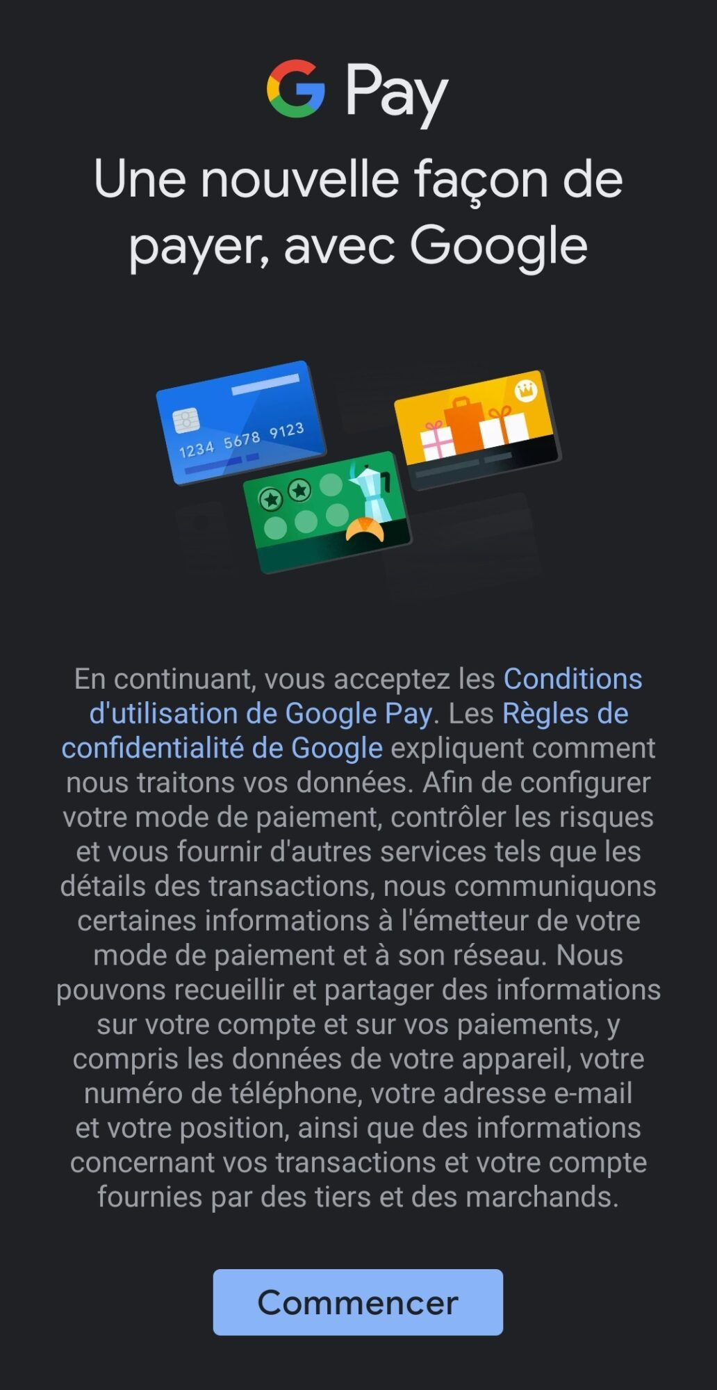 application-google-pay-commencer-smartphone-android