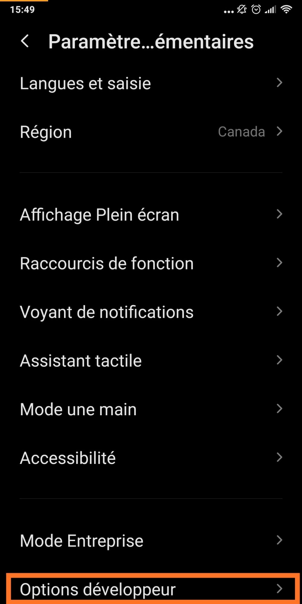 options-developpeur-smartphone-android