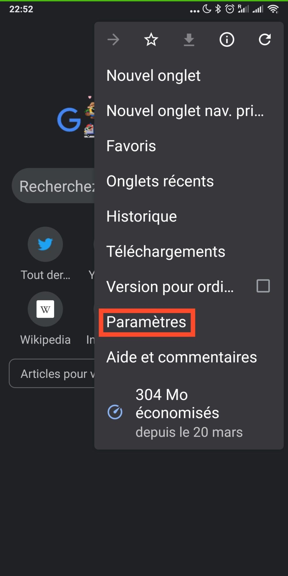 parametres-chrome-android