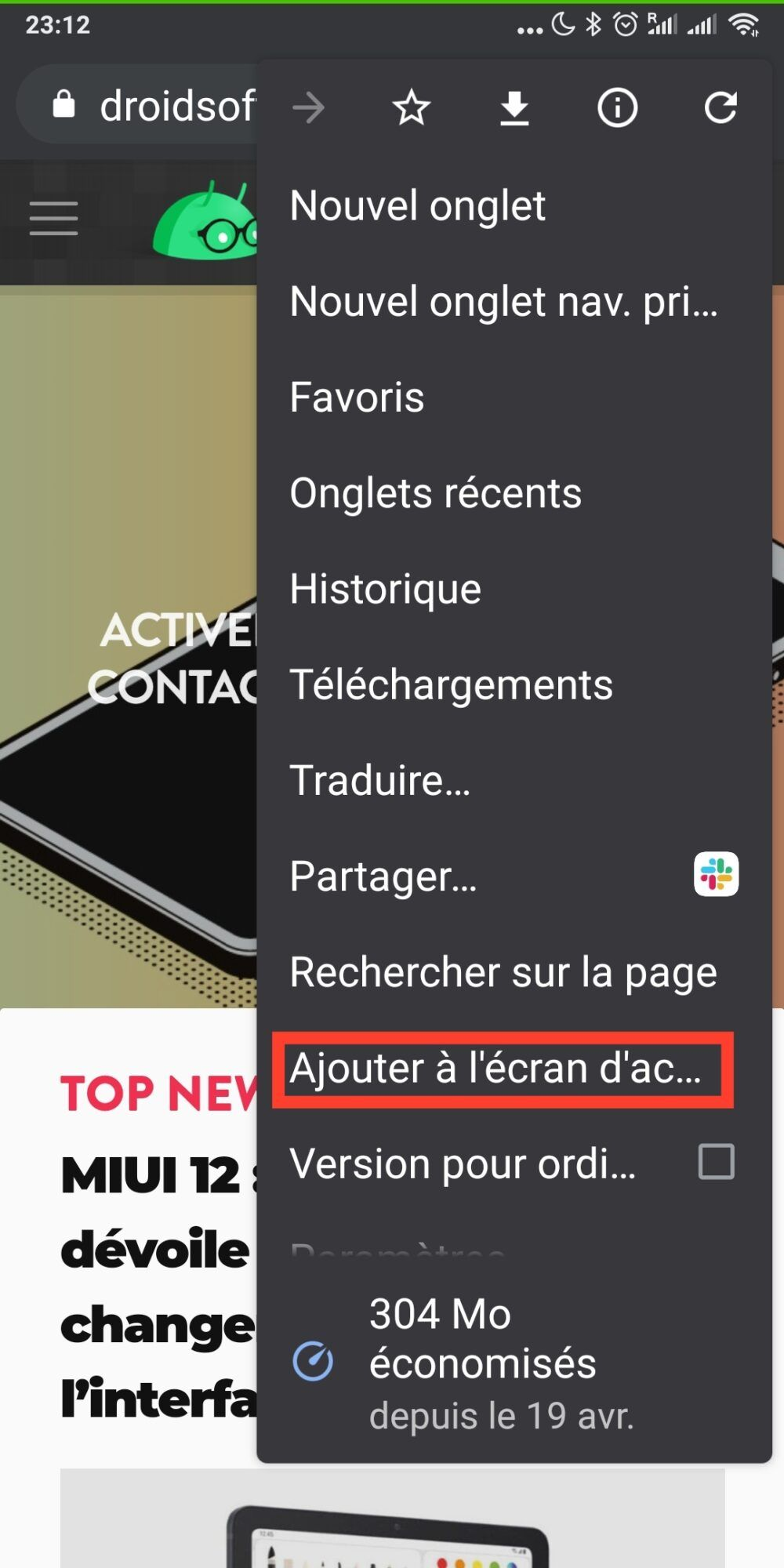 raccourcis-chrome-ajouter-ecran-acceuil-android