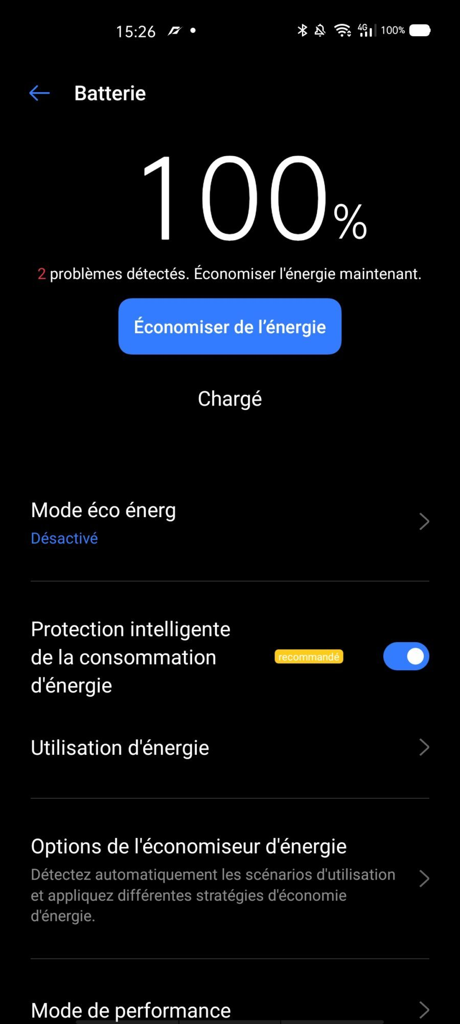 interface batterie