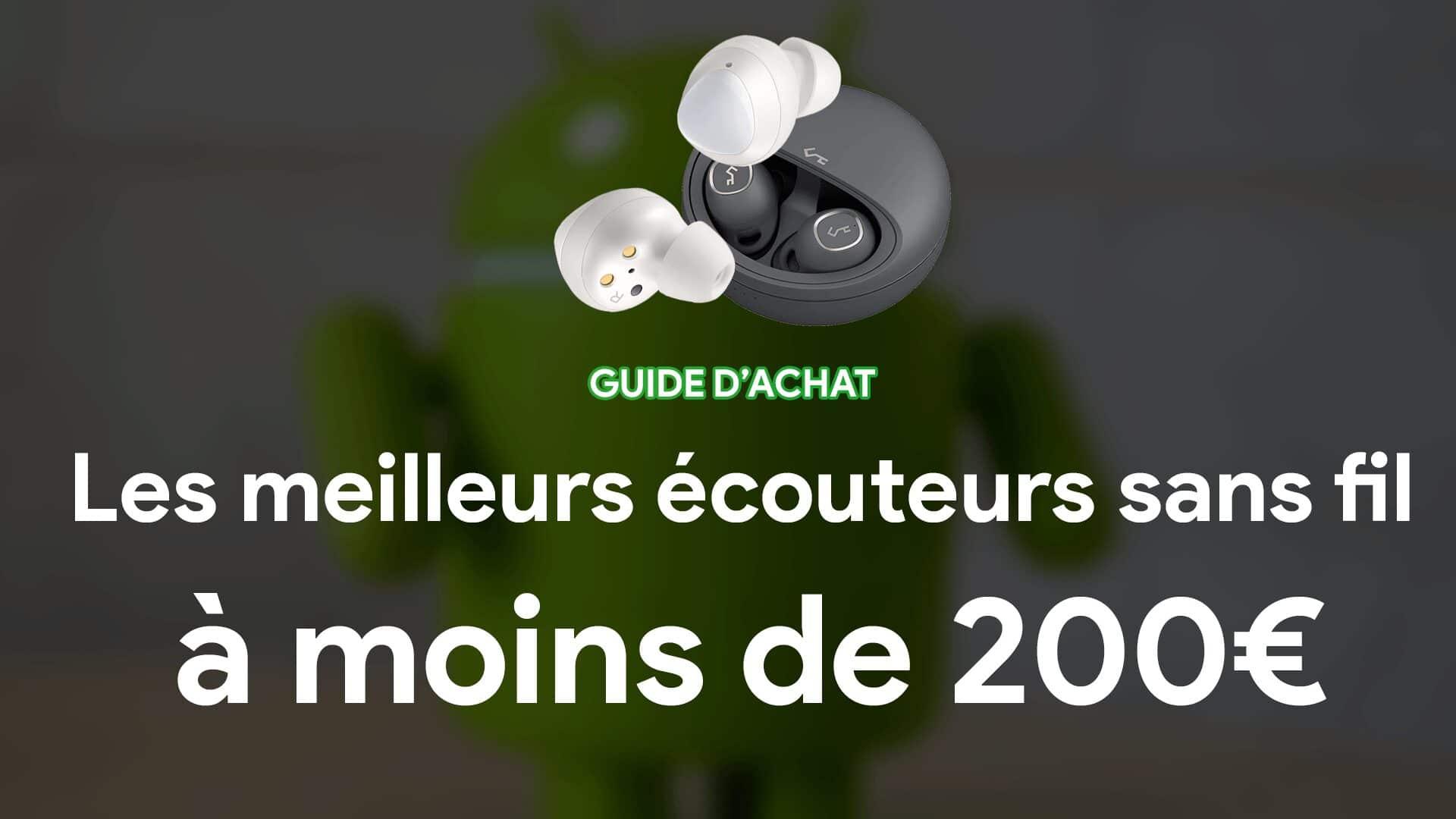 écouteurs, écouteur sans fil, moins de deux cents euros
