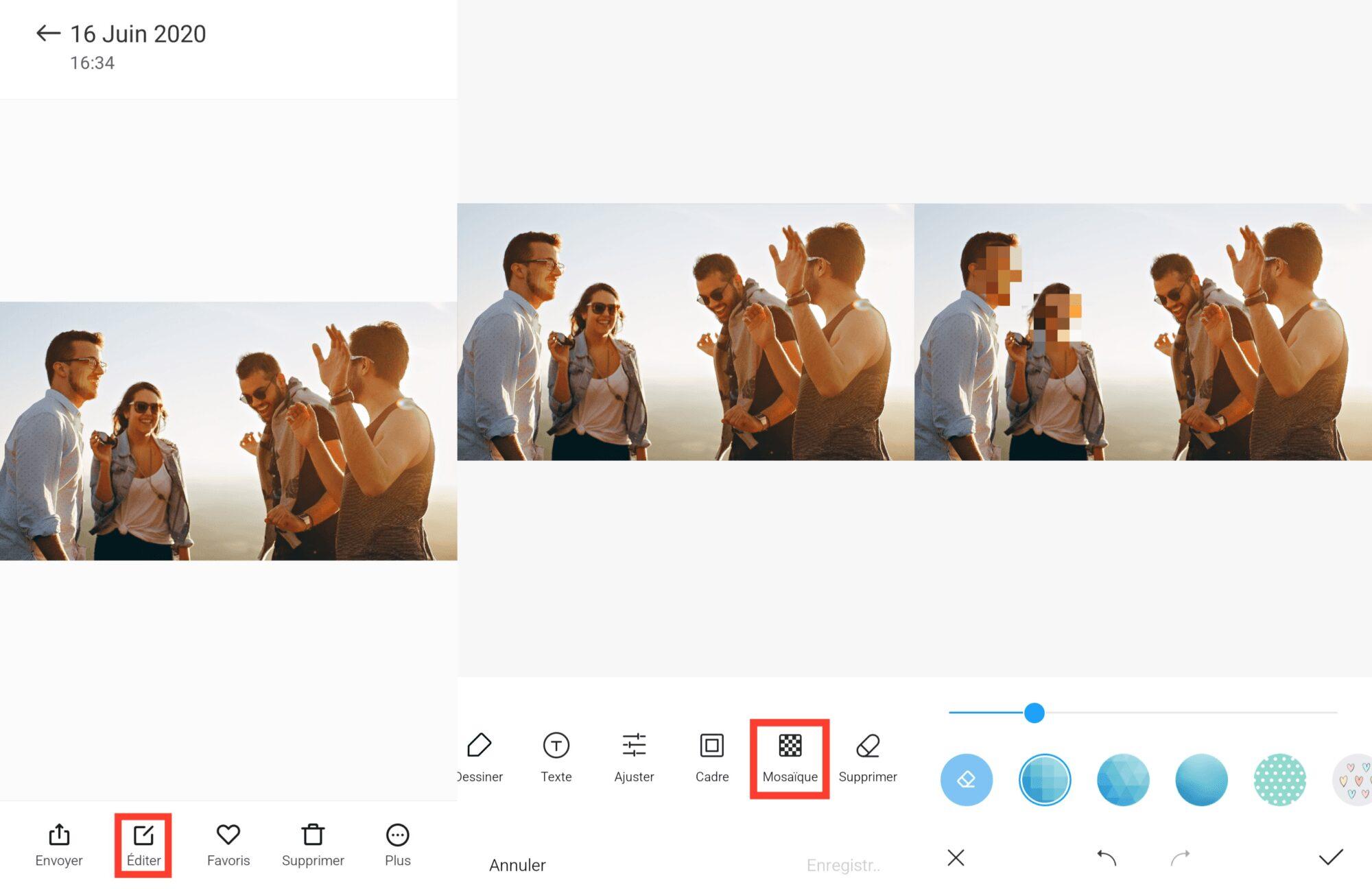 flouter, Flouter un visage ou les informations d'une image sur votre smartphone Android
