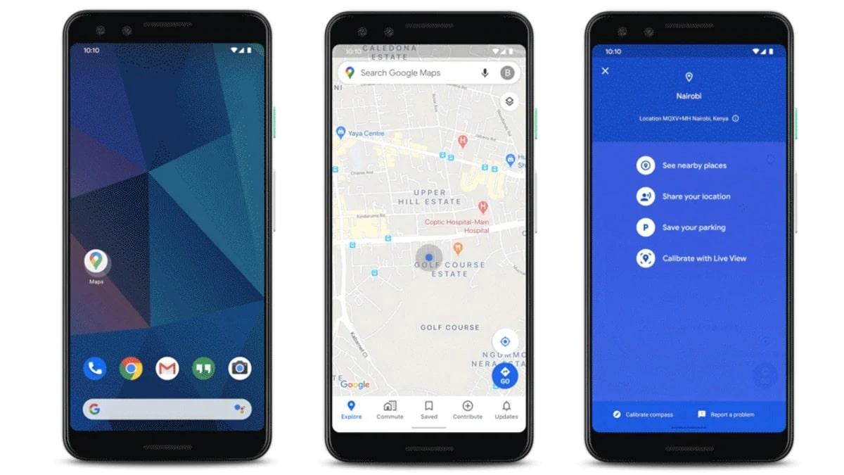 partager votre position, Partager votre position en temps réel avec Google Maps