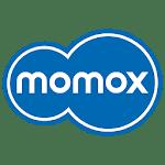 logo momox rachète livres, CD, DVD